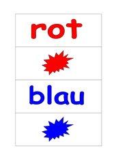 Wortkarten: Farben