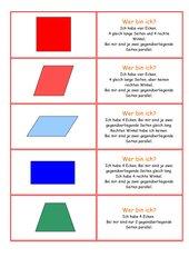 Flächen - erkennen - Rätsel