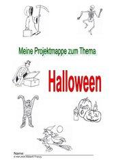 halloween deckblatt für projektmappe