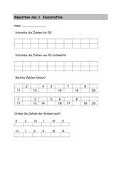 Repetition 1. Klasse