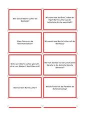 Martin Luther - Frage u. Antwortspiel