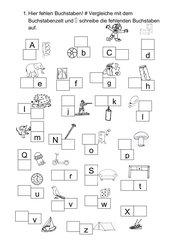 Anlautbilder und fehlende Buchstaben