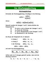 Mischungsrechnungen in der Chemie