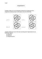 Arbeitsblatt 1 - Mengenlehre, Venn-Diagramme
