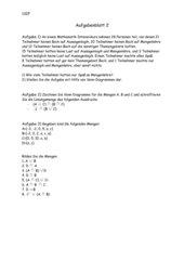 Arbeitsblatt 2 - Mengenlehre, Venn-Diagramme