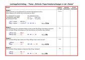 Einfache Proportionen in der Chemie - (Leistungsfeststellung)