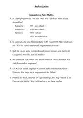 Sachaufgaben - Klasse 4