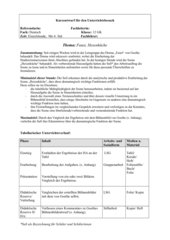 Stundenplanung Faust - Goethe - Hexenküche