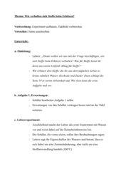 Detailierter Unterrichtsverlauf - Chemische Reaktionen