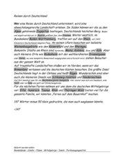 Diktat  mit schwierigen Wörtern der deutschen Geographie