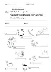Test Obst und Gemüse