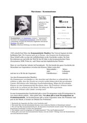 Marxismus, Kommunismus, Die Internationale