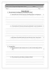 evangelische Religion, Probe Klasse 8-10