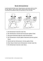Bunte Schneemänner (logical)