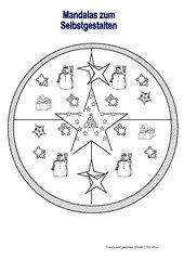 Mandalas für die Weihnachtszeit