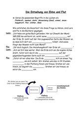 Entstehung von Ebbe und Flut - Lückentext