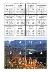 Die 4 Fälle des Namenwortes - Puzzlekarten