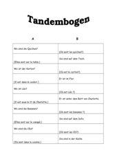 Tandembogen zur Lektion 3A Tous ensemble I