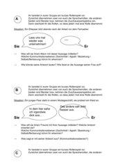 Rollenkarten Kommunikationsebenen