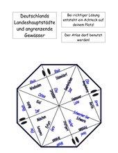 Puzzle - Deutschland Landeshauptstädte und angrenzende Gewässer