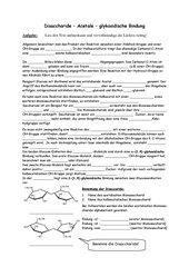 Lückentext Disaccharide