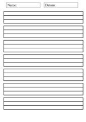 Linienblatt