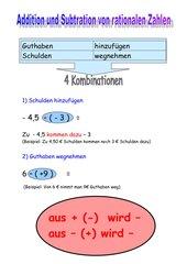Rationale Zahlen addieren und subtrahieren