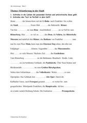 Lückentext/Verben - Frankfurt-Rallye (Perfekt)