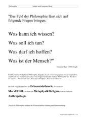 Philosophiefelder nach Kant