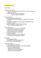 Goethes Faust - Aufbau Teil 1