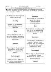 Tandembogen Begriffe Genetik
