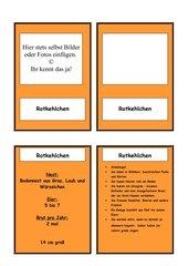 Standvögel - Spiel- und Lesekarten