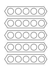 Herstellung von Unterrichtsmaterial: Rechenschiffchen