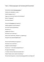 Verfassungsorgane Bundesrepublik Teil1 Test
