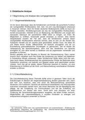 Ausschnitte Unterrichtsentwurf zu den nachgestellten Wortbausteinen -heit, -keit, -nis und -ung