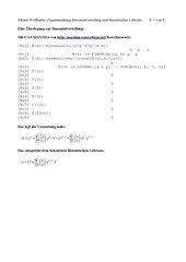 Binomialverteilung und Binomischer Lehrsatz
