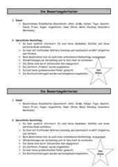 Bewertungskriterien: Personenbeschreibung