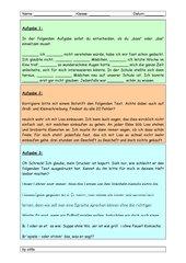 Rechtschreib- und Konzentrationsübung