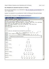 Galtonbrett mit CAS Maxima simulieren