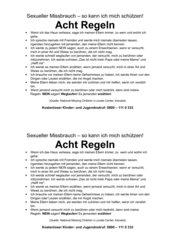 Acht Regeln zum Achtgeben