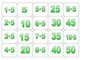 Einmaleins-Memo-Spiel 5er und 10er