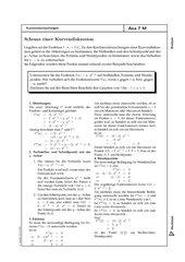 Merkblatt zur Kurvendiskussion