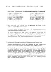 Klassenarbeit Konjunktiv I und II  Klasse 8