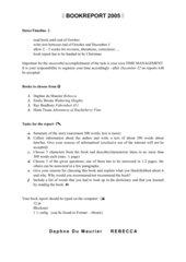 book report Oberstufe AHS
