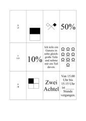 Memo-Spiel / Zuordnungsspiel zur Bruch- und Prozentrechnung