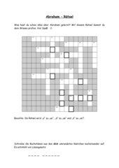 Abraham - Kreuzworträtsel
