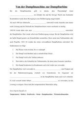 Die Dampfturbine - Physik Lb Klasse 9