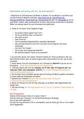 Arbeitsauftrag Deutscharbeit und Vortrag