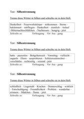 Silbentrennung : Test