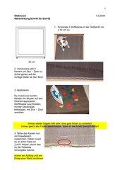 Sitzkissen -  Nähanleitung Schritt für Schritt